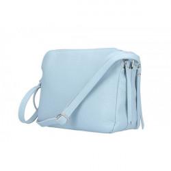 Kožená kabelka na rameno 517 nebesky modrá, Nebesky modrá