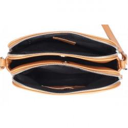 Kožená kabelka na rameno 517 zelená Made in Italy Zelená #1