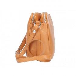 Kožená kabelka na rameno 517 zelená Made in Italy Zelená #3