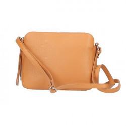 Kožená kabelka na rameno 517 zelená Made in Italy Zelená #4