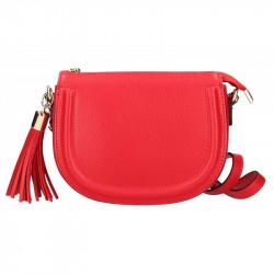 Kožená kabelka na rameno 5300 červená MADE IN ITALY, červená