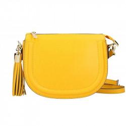 32cc1ff2fe Kožená kabelka na rameno 5300 žltá MADE IN ITALY
