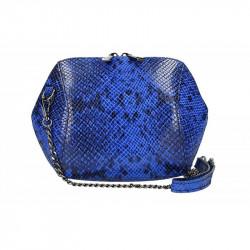 Kožená kabelka na rameno 5306 azurovo modrá, azurovo modrá