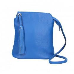 Kožená kabelka na rameno 5320 azurovo modrá Blankytna modrá