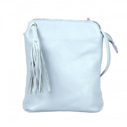Kožená kabelka na rameno 5320 nebesky modrá Nebesky modrá