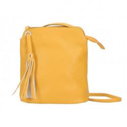Kožená kabelka na rameno 5320 okrová, Okrová