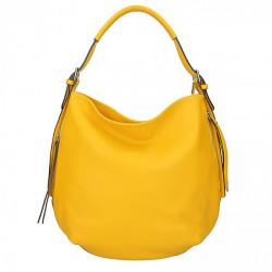 Kožená kabelka na rameno 5326 žltá, Žltá