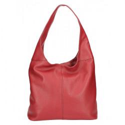 kožená kabelka na rameno 590 tmavočervená MADE IN ITALY, Červená