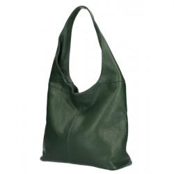 kožená kabelka na rameno 590 tmavozelená MADE IN ITALY, Zelená