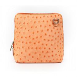 Kožená kabelka na rameno 603 oranžová Oranžová