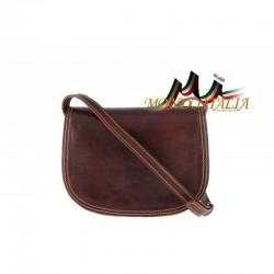 Kožená kabelka na rameno 675 hnedá MADE IN ITALY