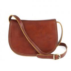 Kožená kabelka na rameno 675 koňaková, Koňak