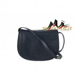 Kožená kabelka na rameno 675 modrá MADE IN ITALY