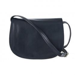 Kožená kabelka na rameno 675 modrá, Modrá