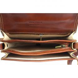 Kožená kabelka na rameno 675 tmavohnedá, Hnedá #1