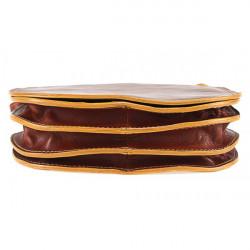 Kožená kabelka na rameno 675 tmavohnedá, Hnedá #2