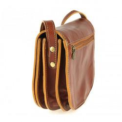 Kožená kabelka na rameno 675 tmavohnedá, Hnedá #3