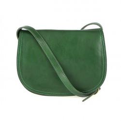 Kožená kabelka na rameno 675 zelená, Zelená
