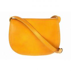 Kožená kabelka na rameno 675 žltá, Žltá
