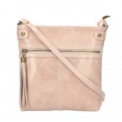 Kožená kabelka na rameno 727 ružová Ružová