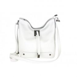 Kožená kabelka na rameno 825 biela, Biela