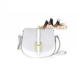Kožená kabelka na rameno 942 biela MADE IN ITALY