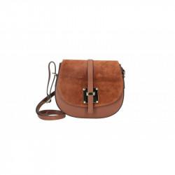 Kožená kabelka na rameno 942 hnedá MADE IN ITALY, marrone chiaro