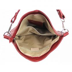 Kožená kabelka na rameno 981 Made in Italy biela, Biela #1