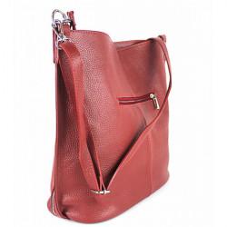Kožená kabelka na rameno 981 Made in Italy biela, Biela #2