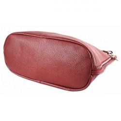 Kožená kabelka na rameno 981 Made in Italy biela, Biela #3