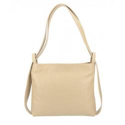 Kožená kabelka na rameno/batoh 575 šedohnedá Made in Italy Šedohnedá