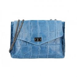 Kožená kabelka na rameno MI15 jeans Made in Italy Jeans