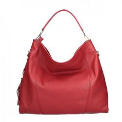 Kožená kabelka na rameno MI260 Made in Italy červená, Červená