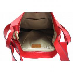 Kožená kabelka na rameno MI357 tmavošedá Made in Italy, Šedá #1
