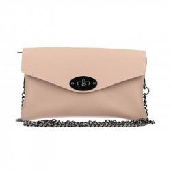 Kožená kabelka na rameno ružová MADE IN ITALY, ružová