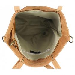 Kožená kabelka na rameno v úprave semiš 768 fuchsia MADE IN ITALY, Fuchsia #1