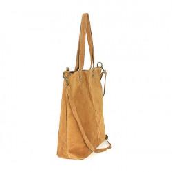 Kožená kabelka na rameno v úprave semiš 768 fuchsia MADE IN ITALY, Fuchsia #2