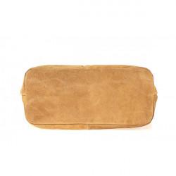 Kožená kabelka na rameno v úprave semiš 768 fuchsia MADE IN ITALY, Fuchsia #3