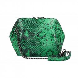 Kožená kabelka na rameno zelená, zelená