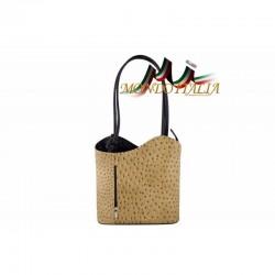 KOžená kabelka šedohnedá+čierna 1260 MADE IN ITALY 1260