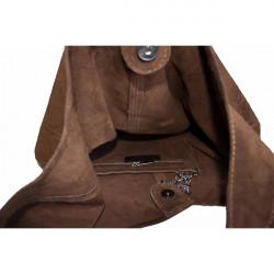Kožená kabelka v úprave semiš 804A červená, Červená #1