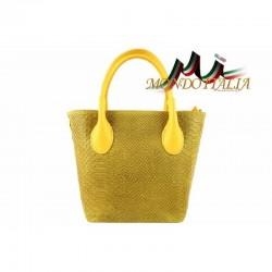 Kožená kabelka žltá 437 MADE IN ITALY 437
