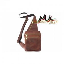 Kožená pánska taška cez rameno 9012 hnedá MADE IN ITALY 8b8b9158121