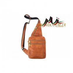 Kožená pánska taška cez rameno 9012 koňak MADE IN ITALY 9012