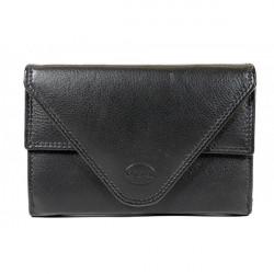 Kožená peňaženka 1124 čierna Calypso, Čierna