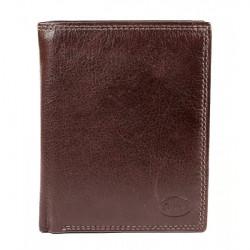 Kožená peňaženka 1128 tmavohnedá Calypso, Hnedá