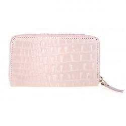 Kožená peňaženka 382 ružová Made in Italy, Ružová