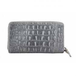 Kožená peňaženka 382 šedá Made in Italy, Šedá