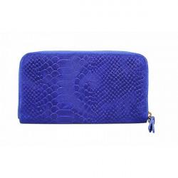 Kožená peňaženka 595 azurovo modrá, Modrá