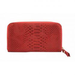 Kožená peňaženka 595 červená Made in Italy, Červená